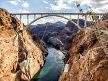Hoover Dam bridge - Arizona, AZ, Royalty Free Stock Photography