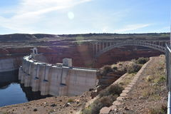 Hoover Dam and bridge. The famous Hoover Dam and bridge at the border of Nevada and Arizona Stock Images