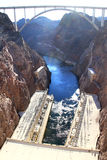 The Hoover Dam and the bridge in Nevada Stock Photo