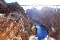The Hoover Dam and the bridge in Nevada Stock Images