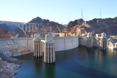 The Hoover Dam and the bridge in Nevada Royalty Free Stock Photos