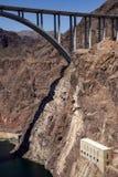 Hoover Dam bridge royalty free stock image