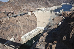 Hoover Dam Bridge View Royalty Free Stock Images
