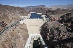 Hoover Dam Bridge View Stock Photography