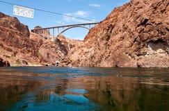 Hoover Dam bypass bridge. Mike O'Callaghan - Pat Tilman Memorial Bridge Royalty Free Stock Images