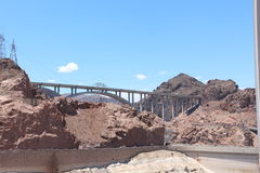 Hoover dam bypass. View of the hoover dam bypass in Nevada and Arizona. The hoover dam holds the water of the Colorado river Royalty Free Stock Photography
