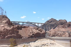 Hoover dam bypass. View of the hoover dam bypass in Nevada and Arizona. The hoover dam holds the water of the Colorado river Stock Photo