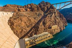 Hoover Dam Canyon Stock Image