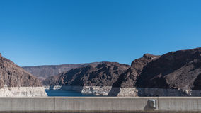 Hoover Dam with clear sky Stock Image
