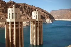 Hoover dam on colorado river Royalty Free Stock Photo
