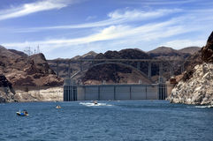 Hoover Dam and Colorado River Bridge Stock Images
