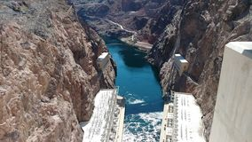 Hoover Dam Colorado River lake mead nevada royalty free stock image