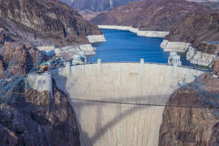 Hoover Dam. And Colorado river near Las Vegas, Nevada Royalty Free Stock Images