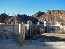 Hoover Dam on the Colorado River Royalty Free Stock Image