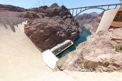 Hoover Dam on Colorado River at the Stateline of Nevada-Arizona. USA Stock Image