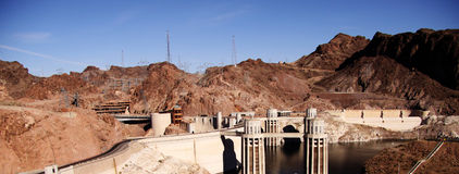 Hoover dam construction Stock Photos