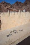 Hoover Dam Danger Sign Stock Image