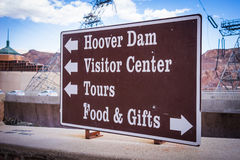Hoover Dam Direction Sign Royalty Free Stock Photo