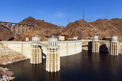Hoover dam, four towers in Boulder City, NV on May 13, 2013 Stock Photos