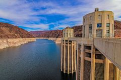 Hoover Dam Front view royalty free stock images