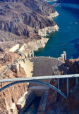 Hoover dam. From a helicopter Royalty Free Stock Image