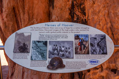 Hoover Dam, Heroes. Royalty Free Stock Photos