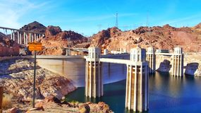 Hoover dam. Arizona side beautiful  photo Royalty Free Stock Images