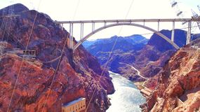 Hoover dam. Arizona side beautiful  photo Royalty Free Stock Photo
