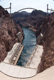 Hoover Dam and the Hoover Dam Bypass Bridge Stock Images
