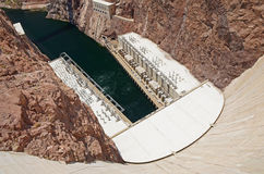 Hoover Dam hydroelectric power plant Royalty Free Stock Image