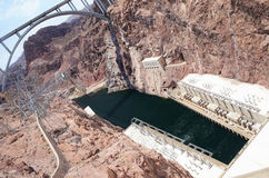 Hoover Dam hydroelectric power plant Stock Photo
