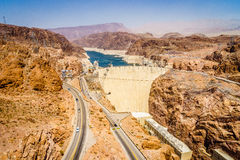 Hoover Dam Hydroelectric power station Arizona Nevada Royalty Free Stock Image