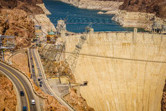 Hoover Dam Hydroelectric power station Arizona Nevada Stock Photo