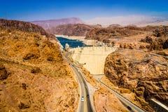 Hoover Dam Hydroelectric power station Arizona Nevada. Hoover Dam Hydroelectric power station border of Arizona and Nevada USA Stock Image