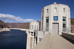Hoover Dam Intake and Lake Meade Royalty Free Stock Image