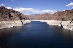 Hoover Dam Intake and Lake Meade Stock Images