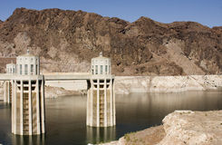 Hoover Dam intake stations Stock Images