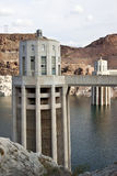 Hoover Dam intake tower. One of the intake towers udes by the hoover dam to injest water stock photos