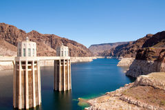 Hoover Dam Intake Tower Royalty Free Stock Images