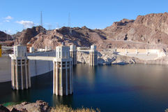 Hoover Dam Intake Towers Royalty Free Stock Photos