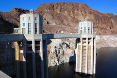 Hoover Dam Intake Towers Stock Photography
