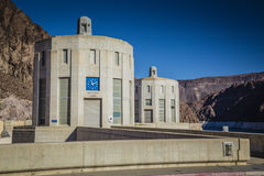 Hoover Dam Intake Towers Royalty Free Stock Images
