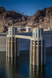 Hoover Dam Intake Towers Stock Image