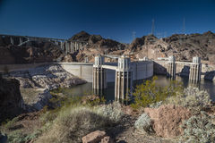 Hoover Dam Intake Towers Royalty Free Stock Photography