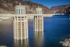 Hoover Dam Intake Towers Royalty Free Stock Image
