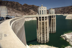 Hoover Dam Intake Towers Stock Photo