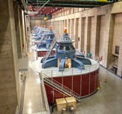 Hoover Dam interior with generators. Royalty Free Stock Photo