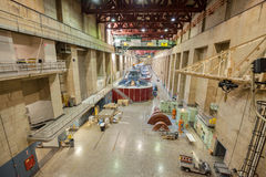 Hoover Dam interior with generators. Stock Images