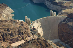 The Hoover Dam and Lake Mead Royalty Free Stock Photo