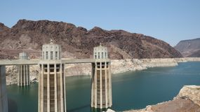 Hoover dam and lake mead royalty free stock images